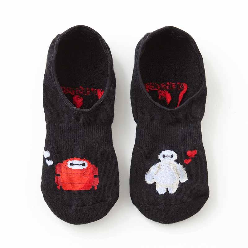 【Disney】ディズニー サイズが選べるスニーカー丈ソックス 「ベイマックス/ペア 33」 S M L 女性 男性 子供 キッズ メンズ レディース おそろい 靴下 レッグ ソックス くつした スニーカー