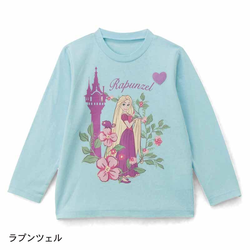 【Disney】ディズニー 名札付けワッペン付き長袖Tシャツ 「ラプンツェル」 80 90 100 110 120 130 子供服 子供用品 男の子 女の子 半袖