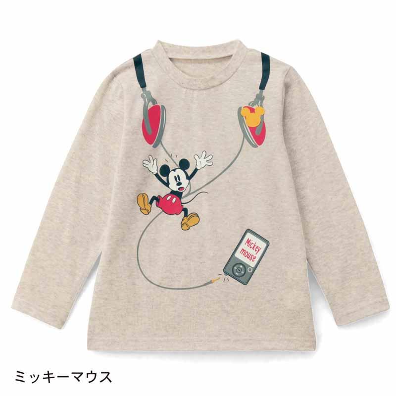 【Disney】ディズニー 名札付けワッペン付き長袖Tシャツ 「ミッキーマウス」 80 90 100 110 120 130 子供服 子供用品 男の子 女の子 半袖