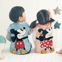 【Disney】ディズニー 抱きつき ニットキルト ベスト ◆ ミッキー ミニー プーさん ドナルド チップ デール マリー 80…