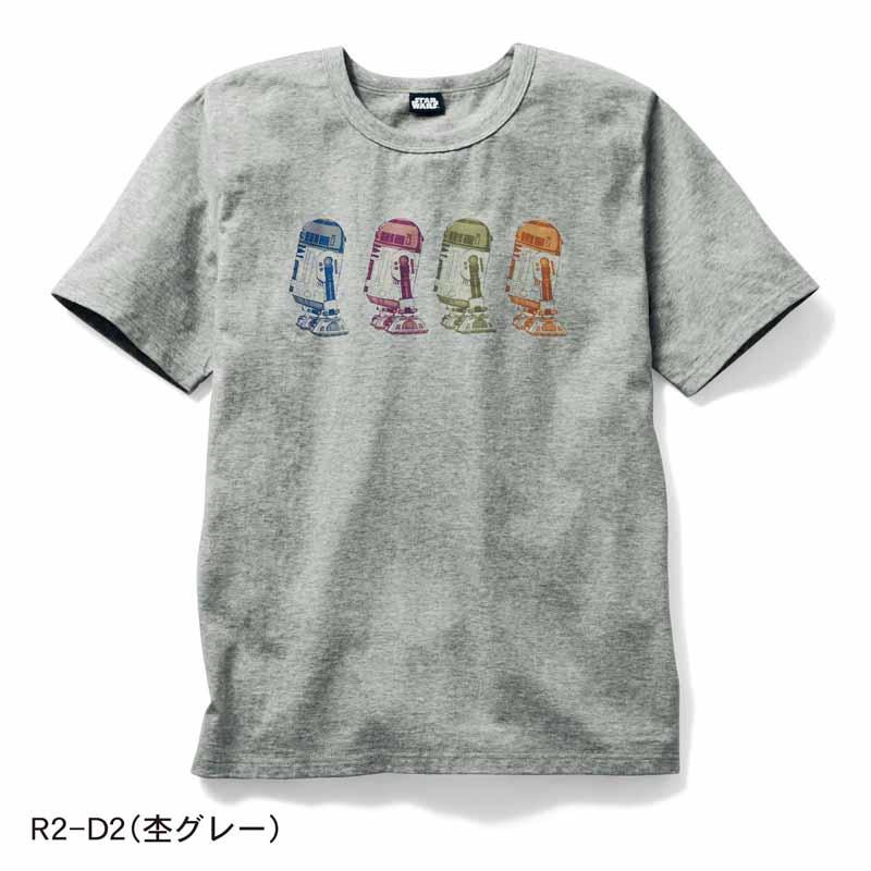 【STAR WARS】スター・ウォーズ メンズ半袖Tシャツ 「R2−D2(杢グレー)」 S M L LL 3L メンズ 服 男性 Tシャツ カットソー 半袖 長袖 父の日 ギフト