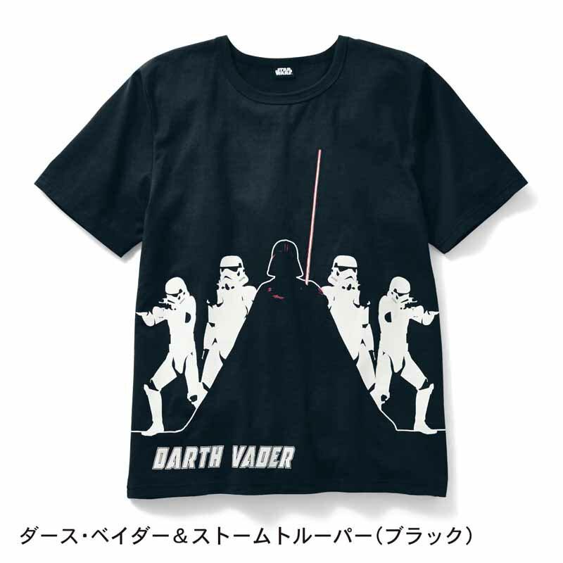【STAR WARS】スター・ウォーズ メンズ半袖Tシャツ 「ダース・ベイダー&ストームトルーパー(ブラック)」 S M L LL 3L メンズ 服 男性 Tシャツ カットソー 半袖 長袖 父の日 ギフト