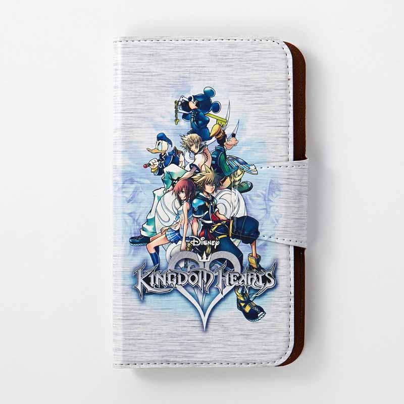 【Disney】ディズニー スマートフォンケース/キングダム ハーツ 「ホワイト」 iPhone6Plus・6sPlus スマホ スマート フォン ホン 携帯 カバー ケース 手帳
