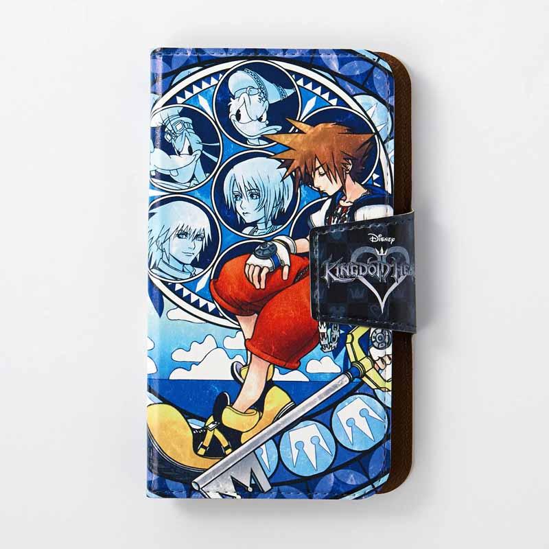 【Disney】ディズニー スマートフォンケース/キングダム ハーツ 「ステンドグラス」 iPhone6Plus・6sPlus スマホ スマート フォン ホン 携帯 カバー ケース 手帳