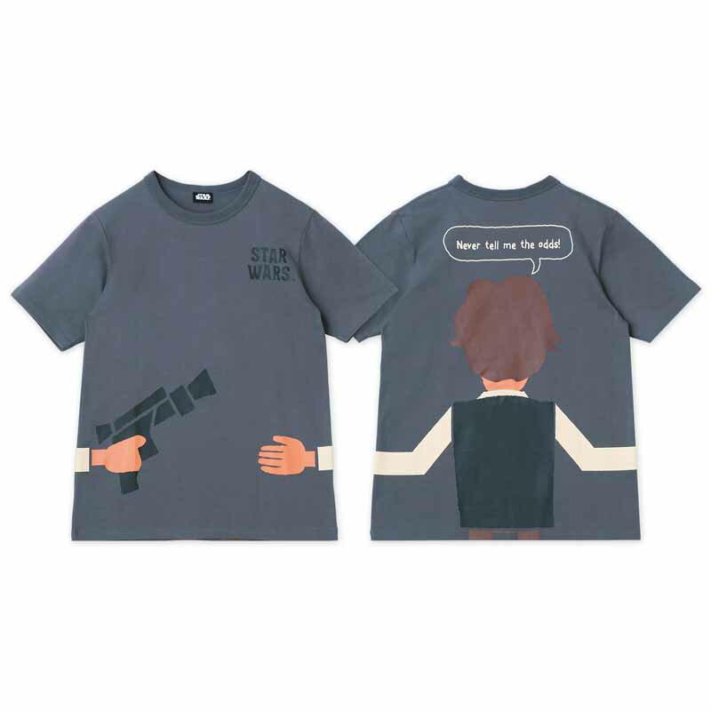 【STAR WARS】スター・ウォーズ STARWARSのつながるプリントTシャツ(ユニセックス) 「ハン・ソロ(チャコール)」 ◆XS S M L LL 3L◆ ◇ レディースファッション レディース カットソー Tシャツ おしゃれ かわいい◇