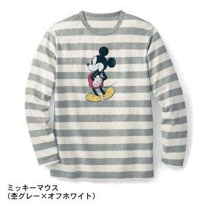 【Disney】ディズニー 長袖ボーダーTシャツ 「ミ...