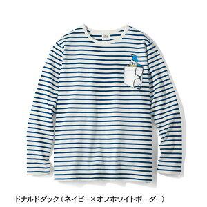 【Disney】ディズニー プリント長袖Tシャツ(メン...