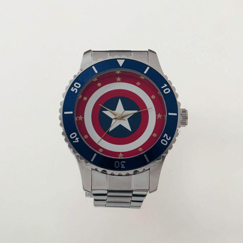 【Marvel】マーベル 腕時計 「キャプテン・アメリカ(シールド)」 ◇ メンズ 男性 腕時計 ウォッチ 父の日 就職祝い ギフト ◇ 【belle_d19】