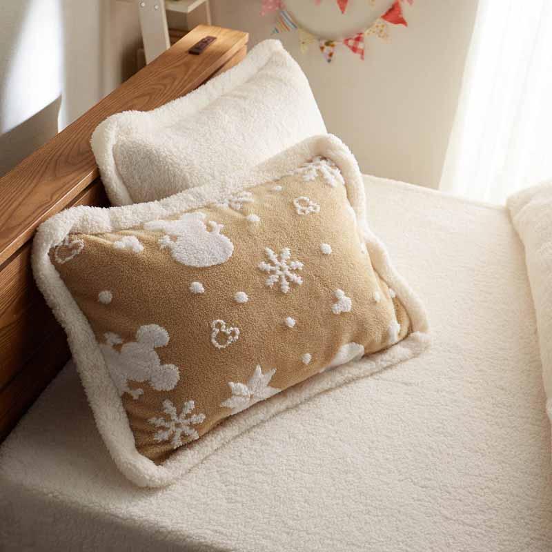 【Disney】ディズニー ジャカードボアの枕カバー2枚セット 「ベージュ」 ◆ 約50×70cm用 ◆ ◇ 寝具 布団 ベッド カバー 枕 カバー ピロー ピローケース bed ファブリック ◇