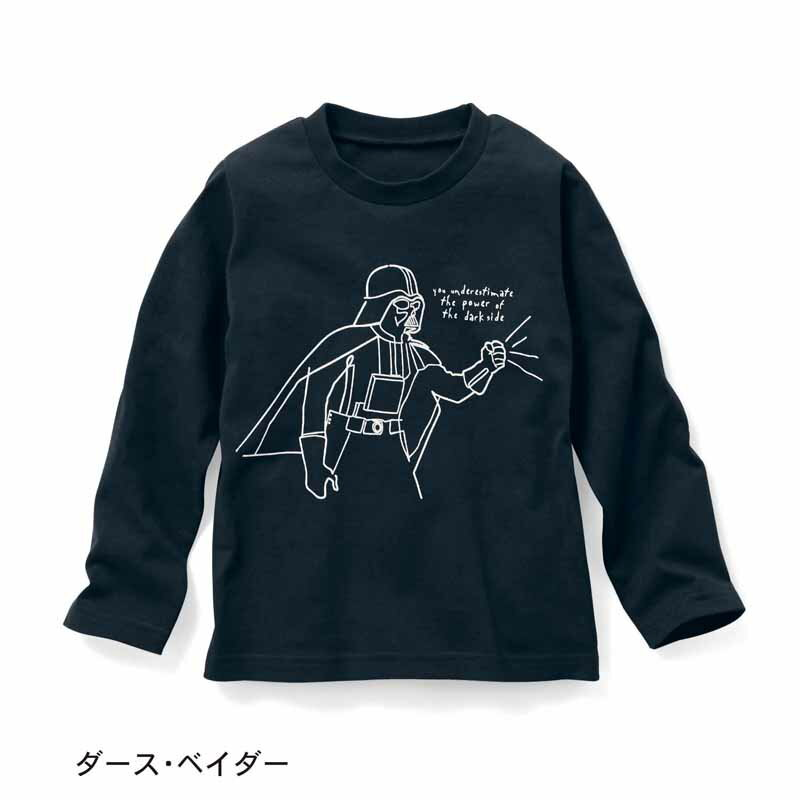 【STAR WARS】スター・ウォーズ 長袖Tシャツ 「ダース・ベイダー」 ◆ 100 110 120 130 140 150 ◆ ◇ 子供服 子供 服 子供用品 男の子 女の子 子供用 Tシャツ 長袖 ◇
