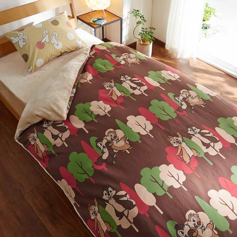 【Disney】ディズニー あったか掛け布団カバー 「チップ&デール」 ◆ ダブル ◆ ◇ 寝具 布団 ベッド カバー 掛布団 掛けカバー 布団カバー 掛け布団 bed ファブリック ◇