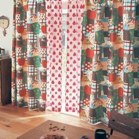 【Disney】ディズニー パッチワーク風デザインの遮光カーテン 「チップ&デール」 ◆ 約100×178(2枚) ◆ ◇ カーテン リビング 寝室 子供部屋 厚地 ドレープ おしゃれ デザイン かわいい ◇