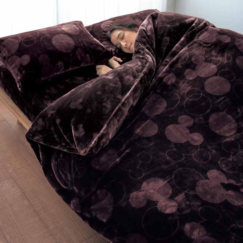 【Disney】ディズニー なめらかマイクロファイバーの掛け布団カバー 「ブラウン」 ◆ シングル ◆ ◇ 寝具 布団 ベッド カバー 掛布団 掛けカバー 布団カバー 掛け布団 bed ファブリック ◇