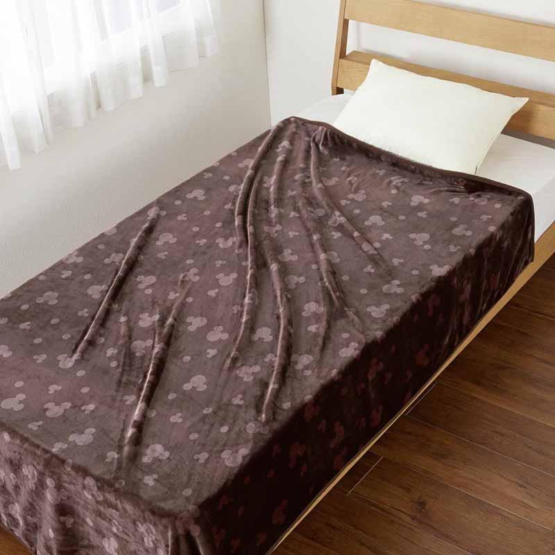 【Disney】ディズニー なめらかマイクロファイバーの毛布 「ブラウン」 ◆ ダブル ◆ ◇ 寝具 布団 ベッド ふとん 毛布 ブランケット あったか bed ◇