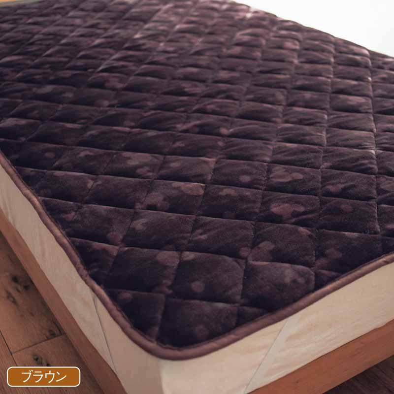 【Disney】ディズニー なめらかマイクロファイバーの敷きパッド 「ブラウン」 ◆ シングル ◆ ◇ 寝具 布団 ベッド カバー シーツ 敷きパッド 敷パッド パッド bed ファブリック ◇