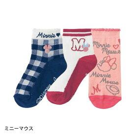 【Disney】ディズニー クルー丈靴下 「ミニーマウス」 ◆ 16〜18 19〜21 ◆ ◇ 子供服 子供 服 子供用品 女の子 子供用 靴下 ソックス ミニーの日 ◇