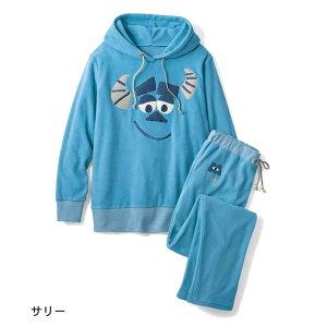 【Disney】ディズニー 薄手フリース長袖ルームウェ...