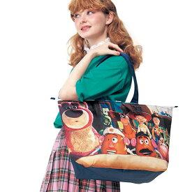 【Disney】ディズニー 保冷機能付きトートバッグ 「シーン柄 バッジデザイン」 ◇ アウトドア 旅行 行楽 保冷バッグ ショッピング キャリー ◇