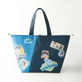【Disney】ディズニー 保冷機能付きトートバッグ 「バッジデザイン」 ◇ アウトドア 旅行 行楽 保冷バッグ ショッピング キャリー ◇