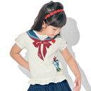 【Disney】ディズニー リボン付き半袖Tシャツ 「ミニーマウス(リボン) ミッキー&ミニー アナ&エルサ ラプンツェル…