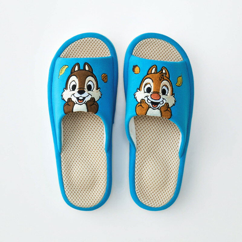 【Disney】ディズニー コンフォートメッシュスリッパ 「チップ&デール」 ◆ M L ◆ ◇ スリッパ ルーム シューズ 家庭用 客用 バブーシュ ◇
