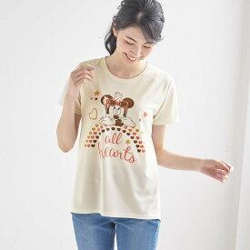 【Disney】ディズニー UVケアメッシュチュニックTシャツ 「ミニーマウス(オフホワイト)」 ◆ S M L LL 3L ◆ ◇ レディースファッション レディース カットソー Tシャツ ◇
