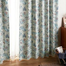 【Disney】ディズニー アリエル柄の遮光カーテン ◆約100×135(2枚)◆ ◇ カーテン リビング 寝室 子供部屋 厚地 ドレープ おしゃれ デザイン かわいい◇