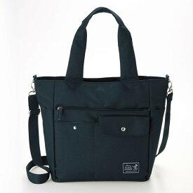 【Disney】ディズニー 8ポケット多収納A4対応2WAYトートバッグ 「ブラック」 ◇ バッグ カバン かばん レディース 女性 鞄 トート 手提げ 手さげ ◇