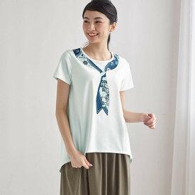 【Disney】ディズニー 前後差チュニックTシャツ 「ドナルドダック(オフホワイト)」 ◆ S M L LL 3L ◆ ◇ レディースファッション レディース カットソー Tシャツ ◇