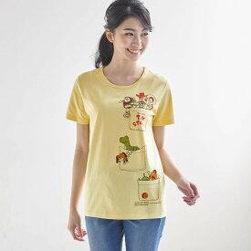 【Disney】ディズニー プリントTシャツ(レディース) 「トイ・ストーリー(ライトイエロー)」 ◆ SS M L LL 3L ◆ ◇ レディースファッション レディース カットソー Tシャツ ◇