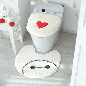 【Disney】ディズニー ほっこりトイレマット 「ベイマックス」 ◆ 標準・フタカバーなし ◆ ◇ トイレ 便所 お手洗い おしゃれ ◇