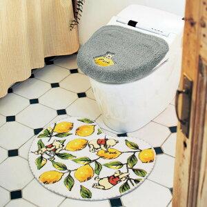 【Disney】ディズニー レモン柄のさわやかトイレマットのみ 「くまのプーさん」 ◇ トイレ 便所 お手洗い おしゃれ かわいい プーさん はちみつの日 ◇