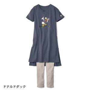 【Disney】ディズニー Vネック半袖ワンピース&リ...