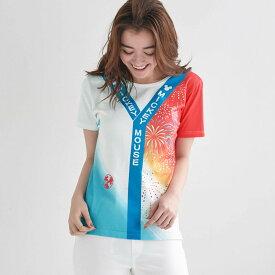 【Disney】ディズニー お祭りハッピTシャツ 「マルチカラー」 ◆ S M L LL ◆ ◇ レディースファッション レディース カットソー Tシャツ ◇