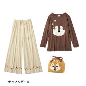 【Disney】ディズニー 巾着付きトラベル長袖パジャ...