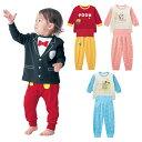 【 Disney 】 ディズニー スムース腹巻付きパジャマ ◆ 80 90 100 ◆ ◇ ミッキー ハ...