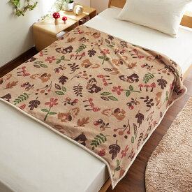 【Disney】ディズニー 大きめサイズのマイクロファイバー毛布 「チップ&デール」 ◆ シングル ◆ ◇ 寝具 布団 ベッド ふとん 毛布 ブランケット あったか bed ◇