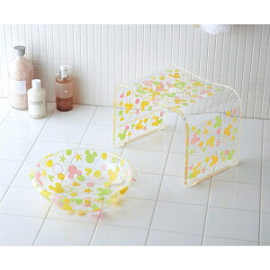 アクリルバスチェア&洗面器 ◇ バス 風呂 バスルーム 風呂椅子 風呂イス バスチェア ◇