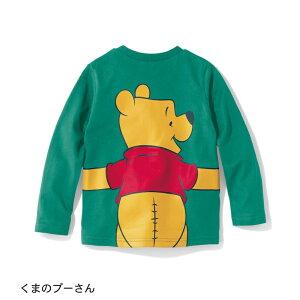 【Disney】ディズニー 長袖抱き付きTシャツ 「く...