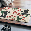 【Disney】ディズニー 花言葉玄関マット 「ミッキー&ミニー」 ◆ 約40×65 ◆ ◇ 玄関 マット エントランス 入口 おしゃれ かわいい デザイン ミニーの日 ◇