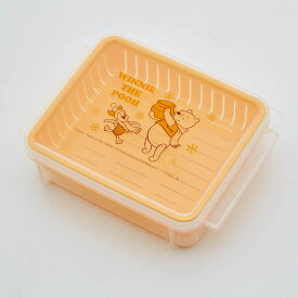 【Disney】ディズニー ご飯がおいしく保存できるすのこ付き保存容器同柄4個セット 「くまのプーさん」 ◇ 調理 料理 器具 ツール 道具 電子 レンジ オーブン 耐熱 ◇