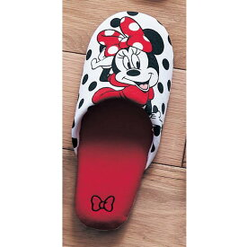 【Disney】 ディズニー しっかり仕様のソフトスリッパ(選べるキャラクター) 「ミニーマウス(レッドドット)」 ◆ M L ◆ ◇ ベルメゾン スリッパ ルーム シューズ おすすめ プレゼント 家庭用 客用 バブーシュ ◇