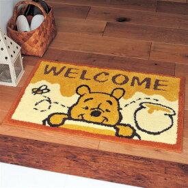 【Disney】 ディズニー 洗える玄関マット「くまのプーさん」 ◆ 約40×65 ◆ ◇ ベルメゾン 玄関 マット エントランス 入口 おしゃれ かわいい デザイン ◇