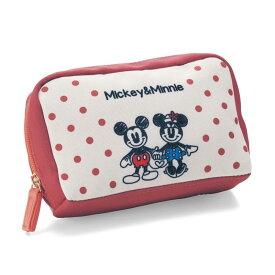 【Disney】 ディズニー 印鑑と通帳が収納できるポーチ「ミッキー&フレンズ」 「ピンク」 ◇ ベルメゾン バッグ カバン かばん レディース ◇