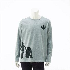 【STAR WARS】スター・ウォーズ メンズ長袖Tシャツ「スター・ウォーズ」 「R2−D2&C−3PO(杢グレー)」 ◆ S M L LL 3L ◆ ◇ ベルメゾン メンズ 服 男性 Tシャツ カットソー 半袖 長袖 ◇