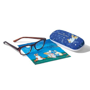 【Disney】 ディズニー 鯖江クリアグラス・リーディンググラス(メガネケース付)[日本製] 「ブラウン」 ◆ 度なし +1.00 +1.50 +2.00 +2.50 ◆ ◇ ベルメゾン サングラス 眼鏡 めがね メガネ 女性