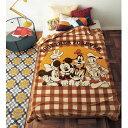 【Disney】 ディズニー なめらかマイクロファイバー毛布(選べるキャラクター) 「ミッキー&フレンズ」 ◇ ベルメゾン 寝具 布団 ベッド ふとん 毛布 ブランケット あったか bed ◇