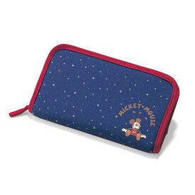 【Disney】 ディズニー 旅行のお供に チケット収納にも使えるマルチケース(選べるキャラクター) 「ミッキーマウス」 ◇ ベルメゾン 旅行 トラベル 宿泊 バッグ カバン ◇