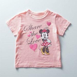 【Disney】 ディズニー 薄くて涼しい半袖Tシャツ(選べるキャラクター) 「ミニーマウス」 ◆ 90 100 110 120 130 140 ◆ ◇ ベルメゾン 子供服 子供 服 子供用品 男の子 女の子 子供用 Tシャツ 半袖