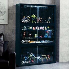 【Marvel】マーベル LEDライト付きコレクションキャビネット「スターク・インダストリーズ」 ◆ 棚なし ◆ ◇ ベルメゾン 家具 収納 リビング キャビネット リビング ボード チェスト ◇